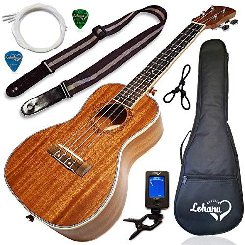 Ukulele Concert Size Bundle From Lohanu (LU-C) 2 Strap Pins Installed FREE Uke...