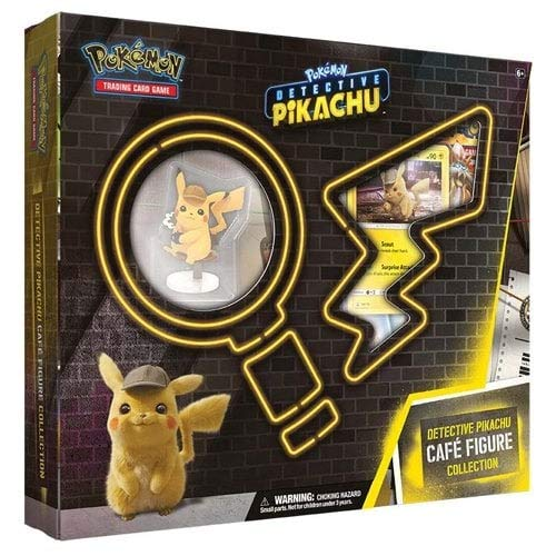 Pokemon Trading Card Game Detective Pikachu Cafe Figure Collection