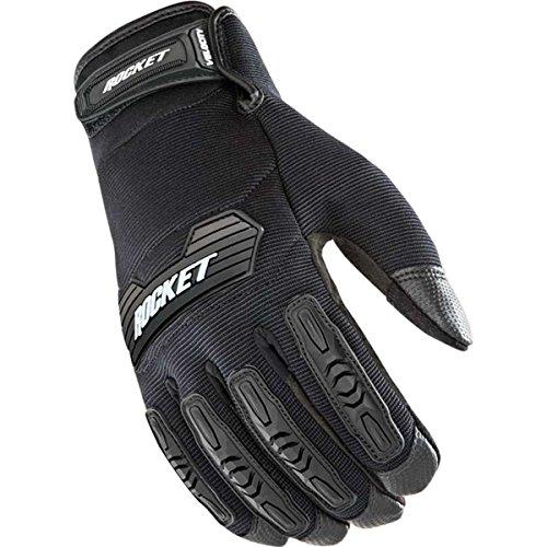 Joe Rocket Velocity 2.0 Men's Textile Street Motorcycle Gloves - Black/Black/Small