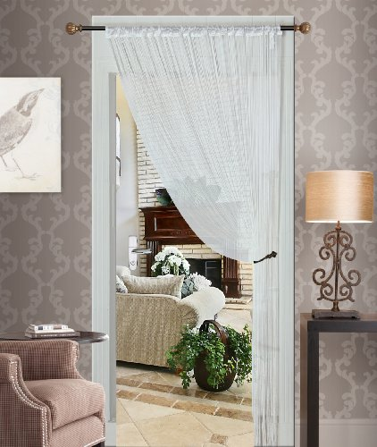 Thread Fringed Curtain, Tafetta Top