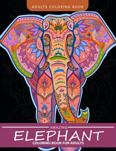 Elephant Coloring Book for Adults: Henna and Paisley Style Elephant -
