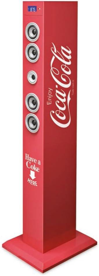 Big Ben AU324594 - Altavoz torre, diseño Coca Cola clásico
