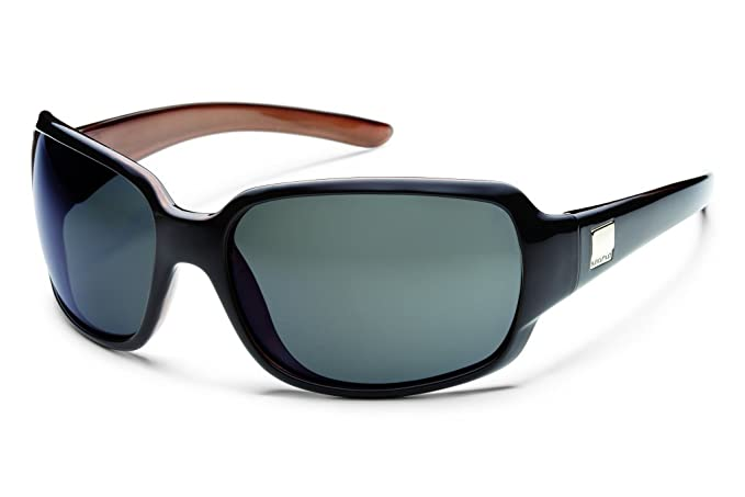 fffc32e23d Amazon.com  Suncloud Optics Cookie Sunglasses (Black Backpaint with Gray  Polarized Polycarbonate Lens)  Clothing