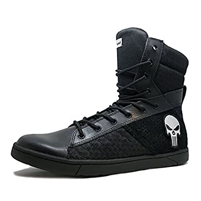 Heyday Footwear MyHeyday Black Tactical Trainer 2.0 High Top Sneakers - Size 5 D(M) US