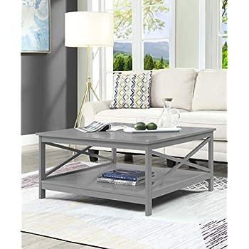 Amazon Com Convenience Concepts Oxford Coffee Table Gray