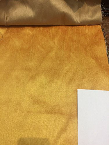 Orange Gold Shantung Faux Silk Polyester Drapery Fabric by the yard 40 colors