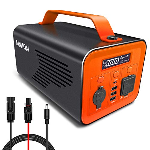 AIMTOM SPS-230 Portable Power Station, 230Wh Battery Powered Generator Alternative with 12V, AC, Type-C and USB Outputs, Pure Sinewave Inverter, Solar Generator for Outdoors Camping Fishing Hunting AIMTOM