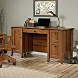 Sauder Carson Forge Computer Desk in Washington Cherry