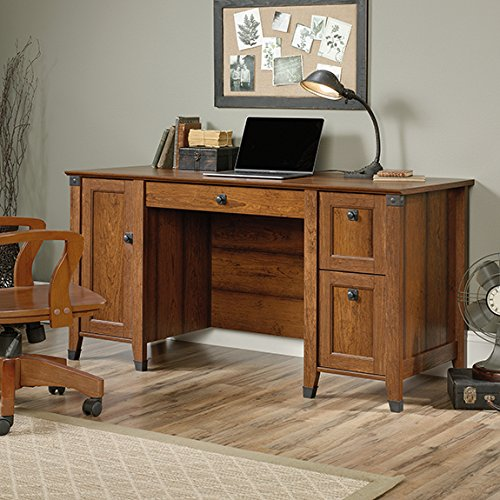 Sauder Carson Forge Computer Desk in Washington Cherry by Sauder