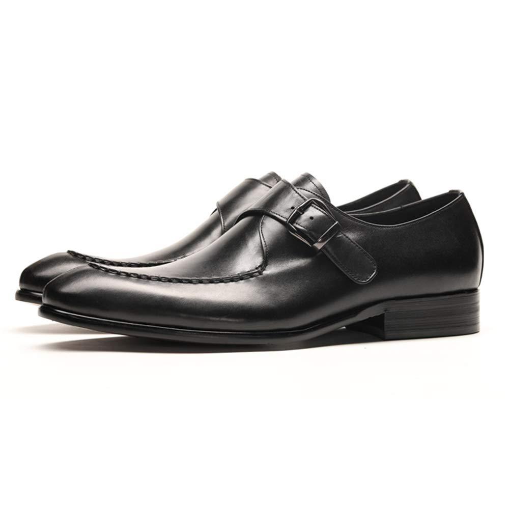 ZHRUI Schnalle Schuhe für für für Männer Office Formale Business Echtes Leder U-Tip Schuhe (Farbe   Schwarz, Größe   EU 40) 5357f6
