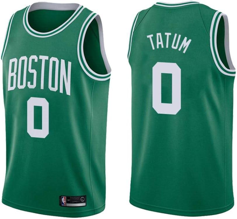 S, Nero Lalagofe Jason Tatum Boston Celtics #0 Nera Basket Jersey Maglia Canotta Stile di Abbigliamento Sportivo Swingman Ricamata