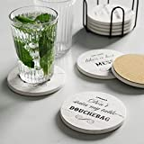 LIFVER Funny Coasters for Drinks Absorbent with