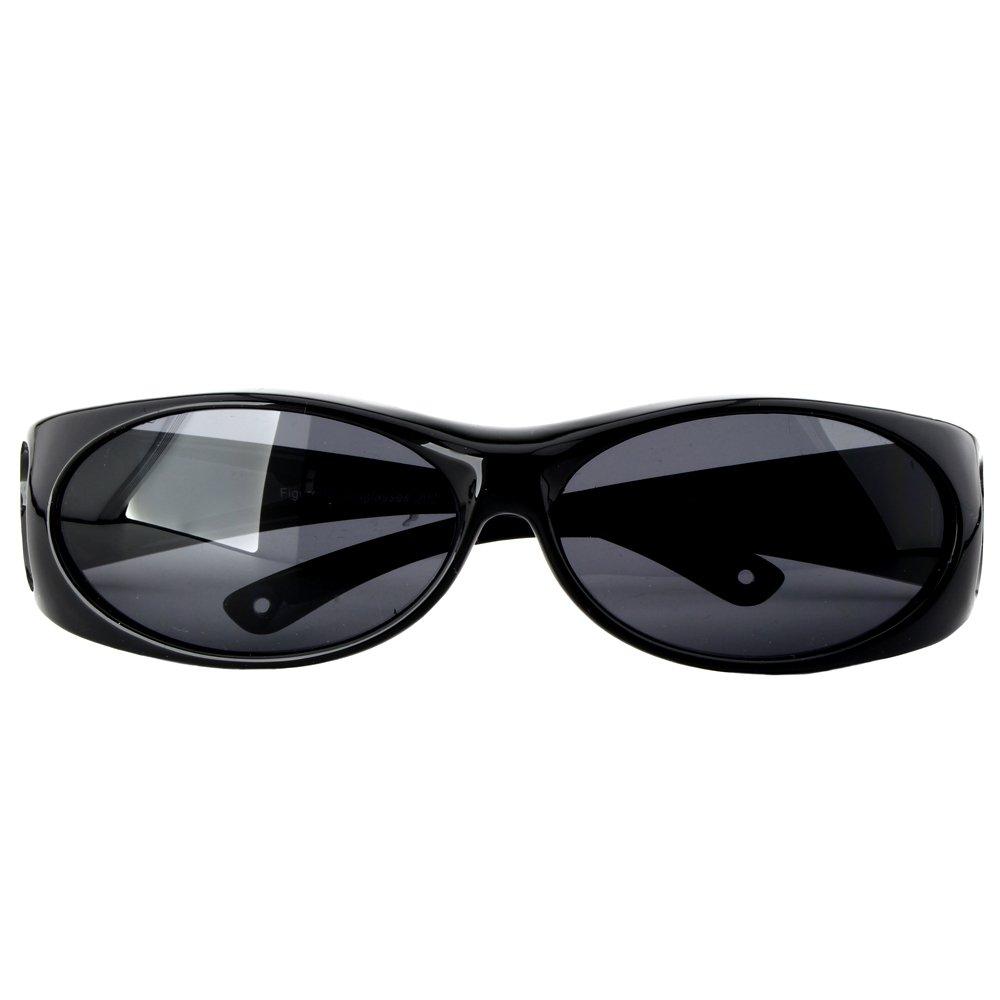 Figuretta SUR-LUNETTES DE SOLEIL | NOIR | lunettes de soleil polarisantes | Protection UV 400 | Surlunettes | Lentilles polarisées | comme clip solaire