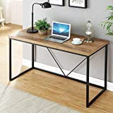 FOLUBAN Rustic Industrial Computer Desk,Wood and Metal Writing Desk, Vintage PC Table for Home...