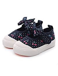 Eclimb Little Kid Girl's Comfortable Canvas Casual Cute Sneakers(Toddler/Little Kid/Big Kid)