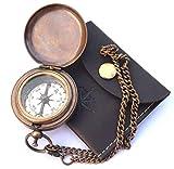 NEOVIVID Handmade Brass Push Open Compas...