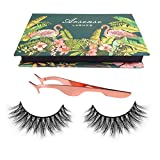 3D Mink Lashes Hand-made Dramatic Makeup Strip Lashes 100% Siberian Fur Fake Eyelashes Thick Crisscross Deluxe False...