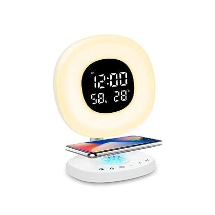 Amazon.com: Alarm Clock with Qi Wireless Charging, Wake UP ...