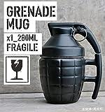 Vansaile® Novelty Grenade Shape Design Cup Coffee Mugs(black 18oz)