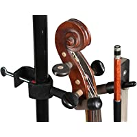 String Swing BCC04V Mic/Music Stand Violin Hanger, Black