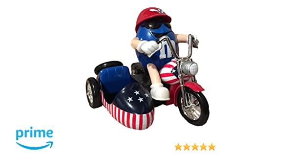 Amazon.com: M&Ms World Motorcycle with Side Car - Freedom Rider - Red, White & Blue Chocolate Candy Dispenser without a Collectors Box: Toys And Games: ...