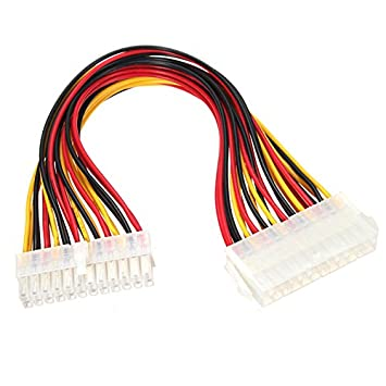 R28 30cm Stromkabel 24 pin Verlängerung PC ATX 24: Amazon.de: Elektronik
