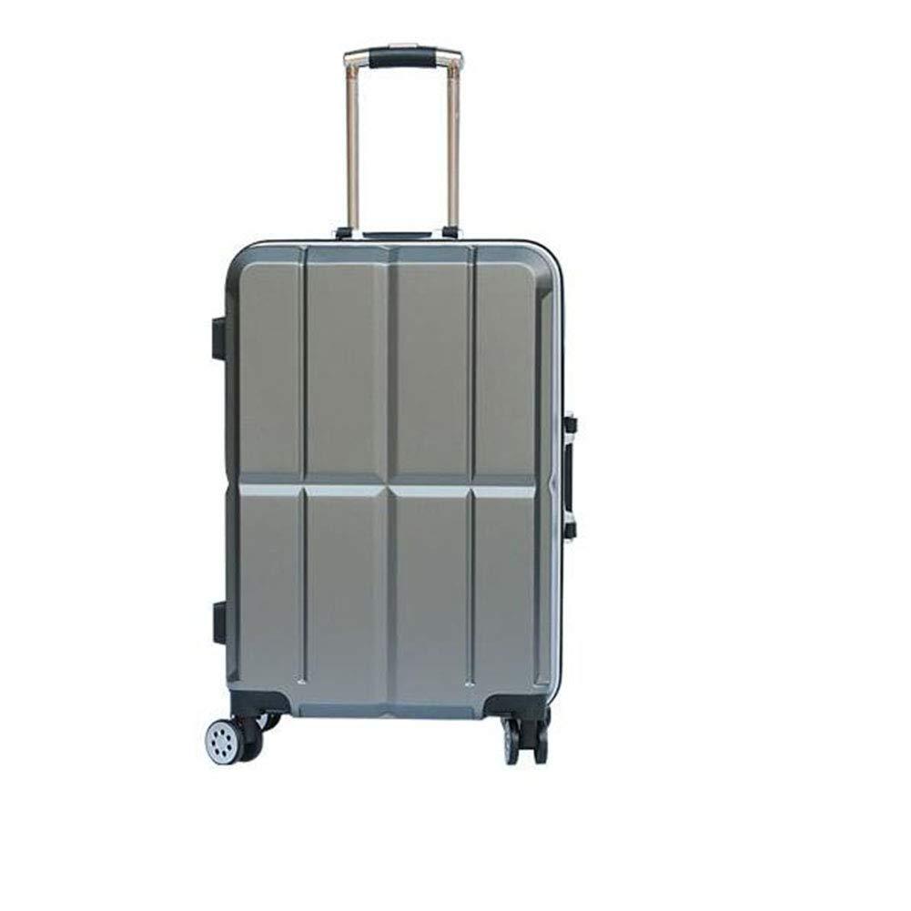 トロリーケース - サイレントユニバーサルホイール - 盗難防止 - ABS素材スーツケース - ウェアラブル防水および耐震性スーツケース,gray,20in B07MQKRX1G gray 20in