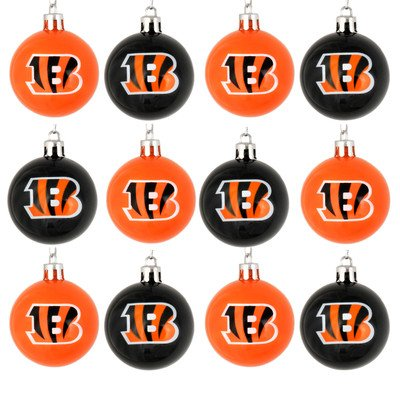 FOCO Cincinnati Bengals 12 Pack Plastic Ball Ornament (Cincinnati Billiard Ball Set)
