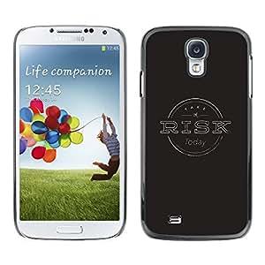 iBinBang / Funda Carcasa Cover Skin Case - Gestión de Riesgos Negro Gris sello - Samsung Galaxy S4 I9500