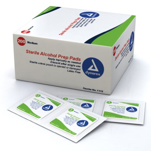 Alcohol Prep Pads, Medium, 200 Per Box (DX1103) Category: Blood Glucose Monitoring Supplies