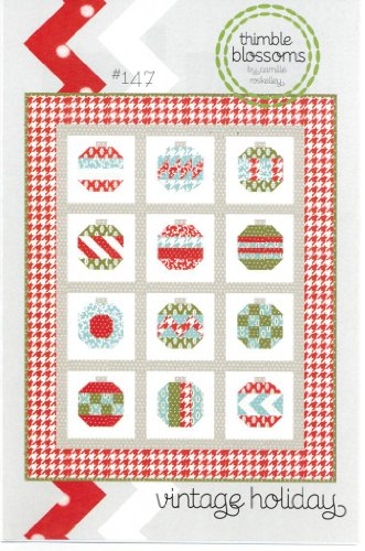 Vintage Holiday Christmas Quilt Pattern, 54 Inch by 68 Inch Finished Size ()