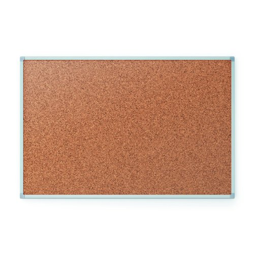 Quartet Cork Bulletin Board, 96 x 48 Inches, Aluminum Frame (S738)