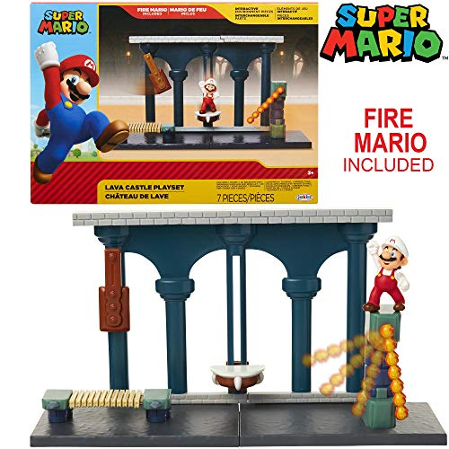 Nintendo Super Mario Lava Castle 2.5 Figure Playset with Feature Accessories