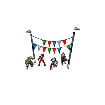 Kit decoracion tarta fiesta Vengadores Avengers Marvel ...