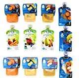 Gerber 2nd Mix Baby Food, Fruit & Veggie Variety Pack, Organic 3.5 oz Pouch and 4 oz Tubs (Pack of 18)