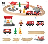 BRIO 33815 Rescue Firefighter Set | 18 Piece Train