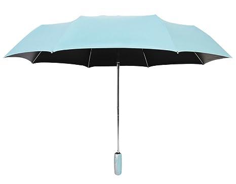 Mecoco Paraguas Plegable y Compacto Impermeable Portátil Ligero para Viaje Mujer, Clásico Elegante, Paraguas