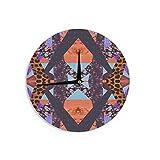 KESS InHouse Vasare Nar ''Pillow Kaleidoscope '' Purple Orange Wall Clock, 12''