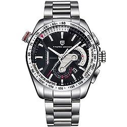 44mm Pagani Design Full Chronograph Tachymeter Sport Mens Quartz Wrist Watch