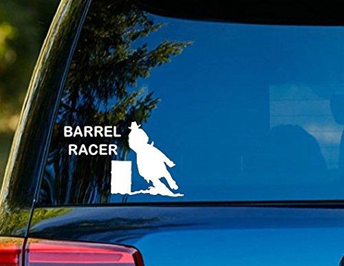 (T1210 Barrel Racer Horse Decal Sticker - 4.00