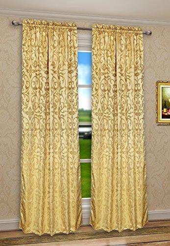 CaliTime Rod Pocket Window Curtains Panels for Bedroom, Dama