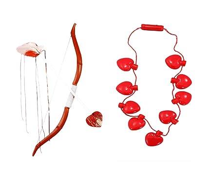 Amazon Com Cupid Bow Cupids Arrow Led Lite Heart Bulb Necklace