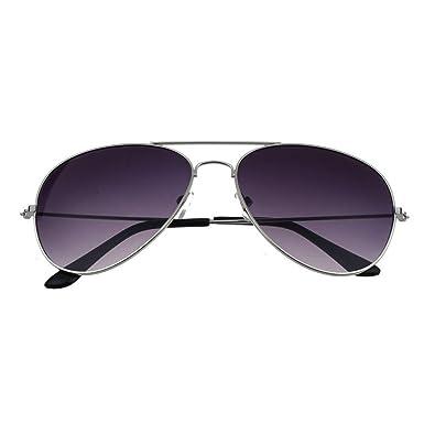 Femmes Hommes Été Glasses, Unisex Mode Anti UV400 aviateur lunettes de soleil par Reaso (Or + Rouge)