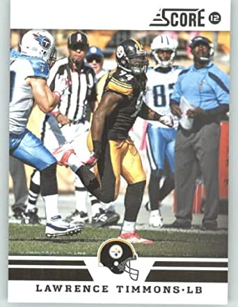 2012 Score Football Card #193 Lawrence Timmons - Pittsburgh Steelers (NFL Trading Card)