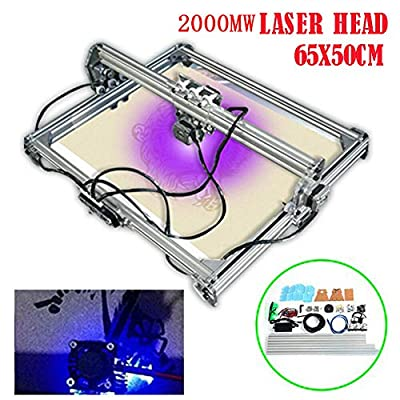 Engraving Machine TBVECHI DIY Desktop Mini Laser Engraving Machine 65x50cm 2000mW Laser Head