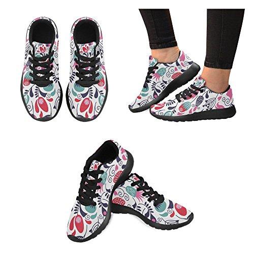 de 13 Zapatillas Mujer Zenzzle Negro Running Negro Color Lona de Para P5wvwdq