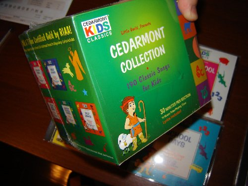 11 CD Complete Cedarmont Collection / 190 Classic Songs for Kids / 11 hours total playtime / LYRICS INCLUDED / Certified Gold by RIAA / Hymns, School Days, Christmas Favorites, Lullabies, Songs of Praise, Preschool Songs, Silly Songs, Bible Songs, Sunday School Songs, Toddler Tunes
