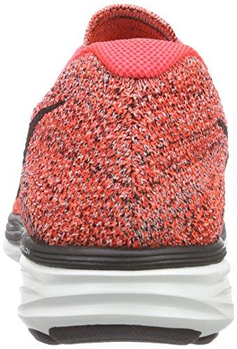 Nike Flyknit Lunar3 698181-603 Cramoisi / Orange / Blanc / Noir Chaussures De Course Pour Hommes (10.5)