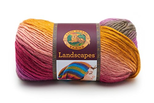 Lion Brand Yarn 545-211 Landscapes Yarn, Coral Reef