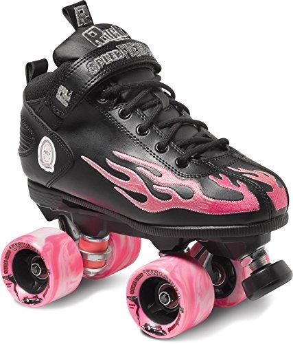Rock Flame Skate Package Black with Pink Flame sz Mens 10 / Ladies 11 by Sure-Grip